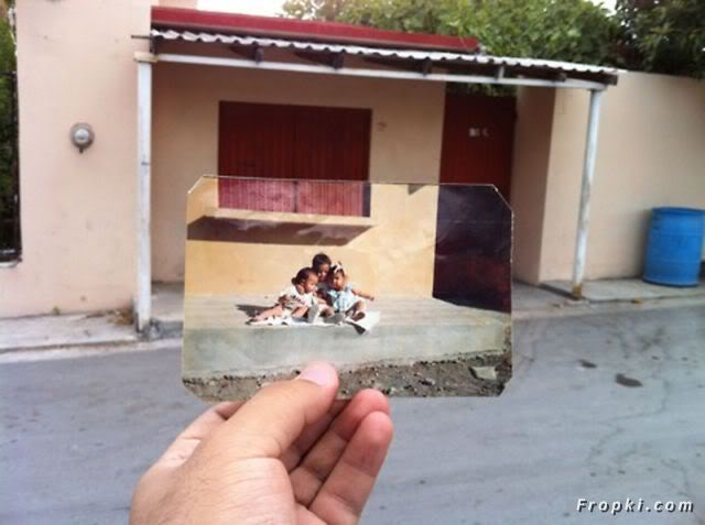 Photographs from Past Meets Present Reality