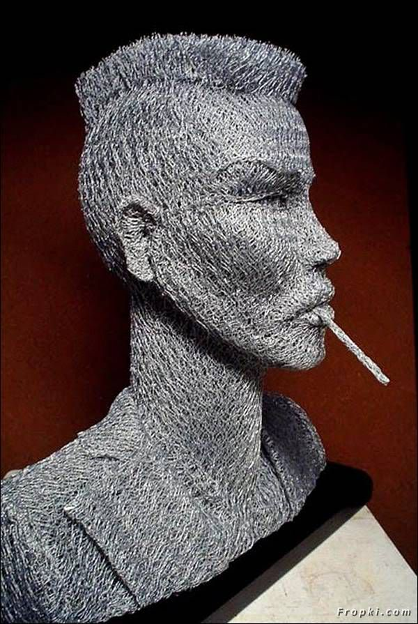 Turning Fence Wire into Sculptures