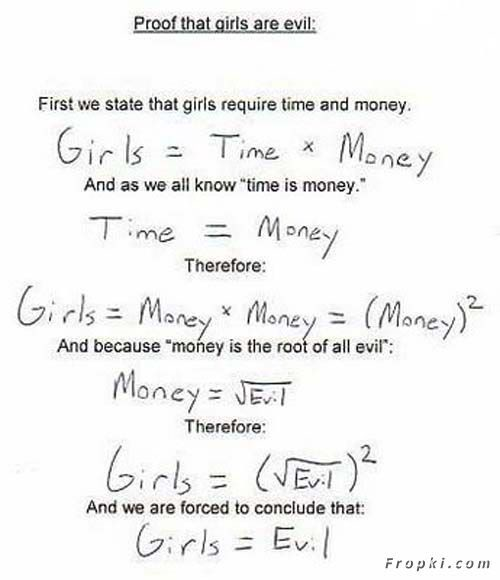 Proof that Girls are Evil