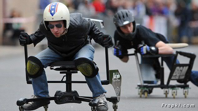 Have you ever raced on Office Chairs?