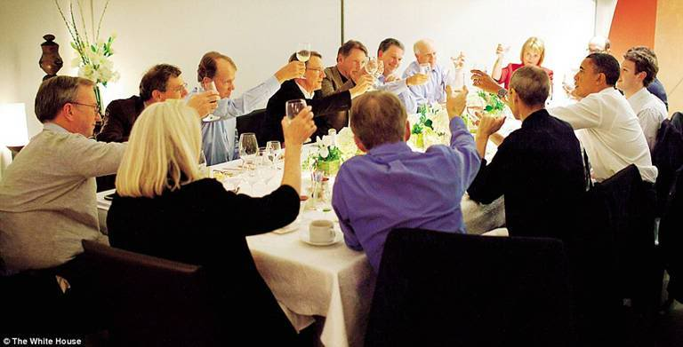 The world's richest dinner party