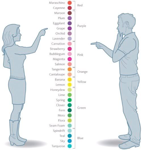 What Women and Men See in Colors
