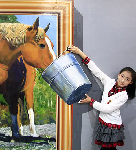 Paintings from Exhibition of 4D Art of China