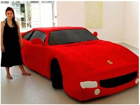 Yarn Ferrari: Knitted Using 12 Miles Of Yarn