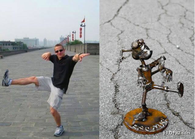 People VS Their Metal Sculptures
