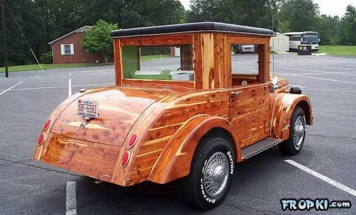 A Workable Wooden Car