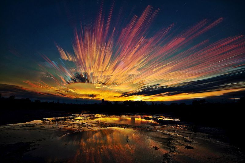 Painted Skies Using Time-Lapse Photographs