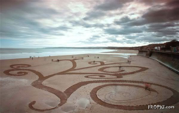 Amazing Beach Sand Art