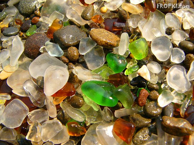 Glass beads mixed in the Sand
