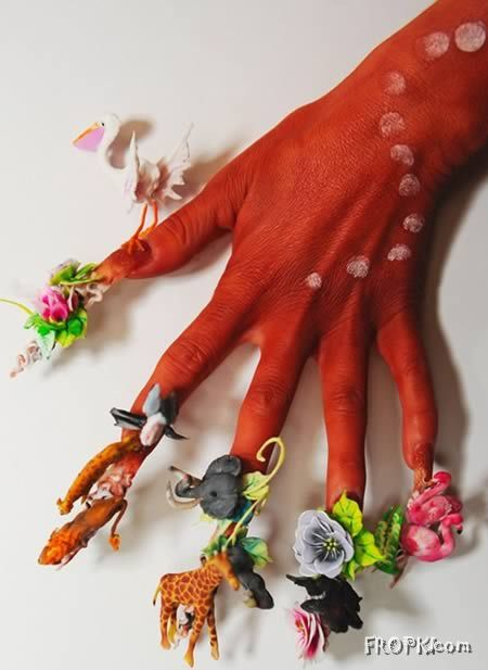 Anyone of you has such Unique Nail Designs?