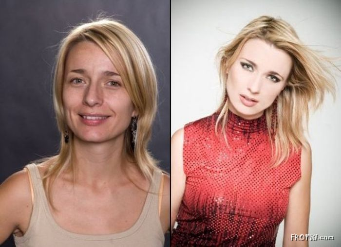 Our Reality With and Without Makeup