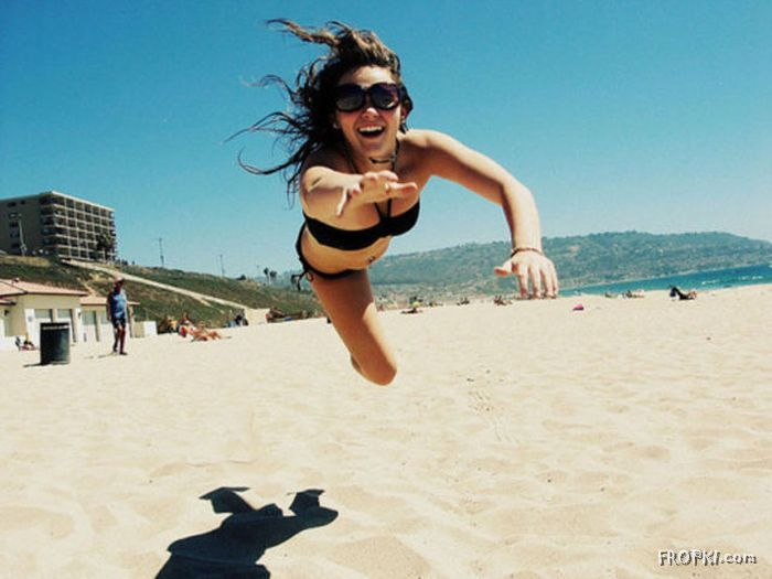 Jumping for a Photo
