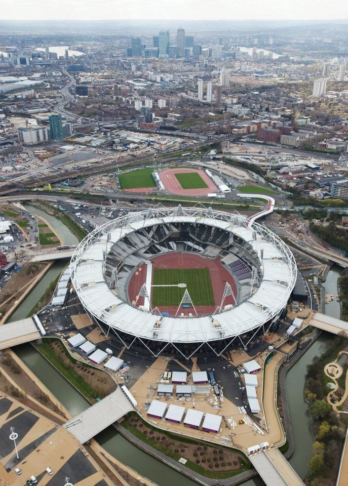 Aerial Views of Olympics Park, London