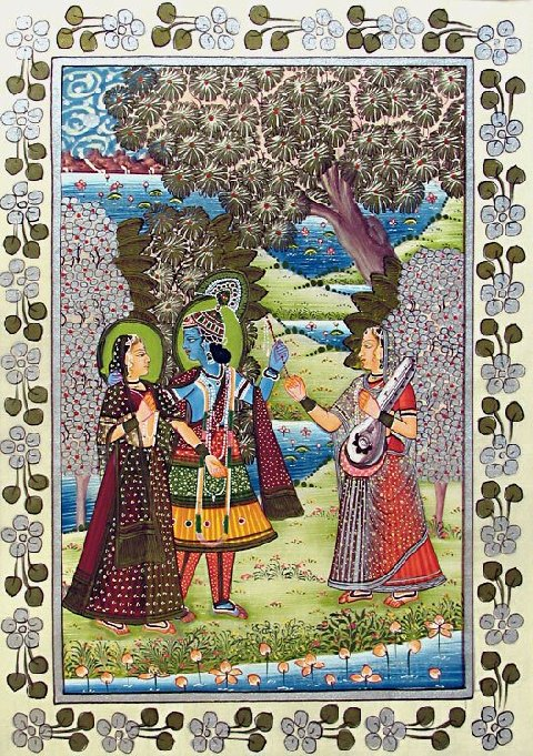 Indian Paintings on Silken Cloth
