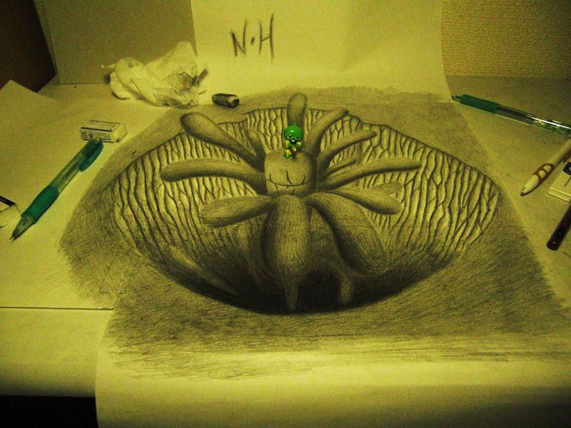 Mind-Blowing 3D Pencil Drawings by Nagai Hideyuki