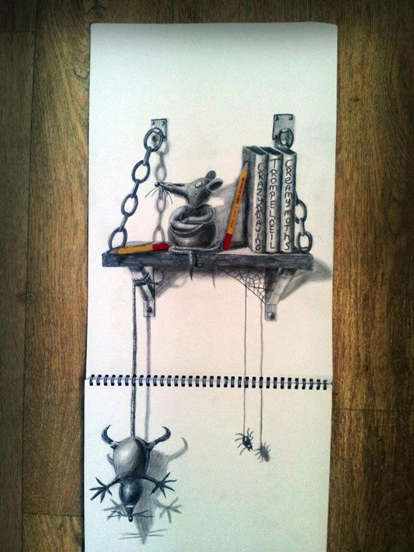 Anamorphic 3D Drawings by Ramon Bruin