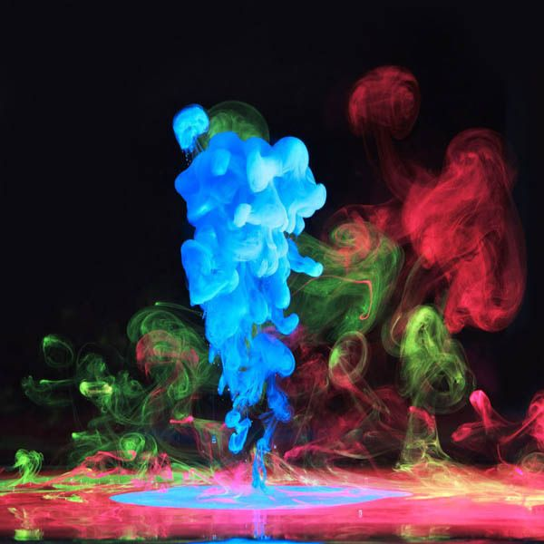 Ink Explosions Under Water by Mark Mawson