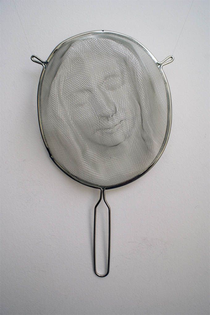 Shadowy Faces Made from Strainers