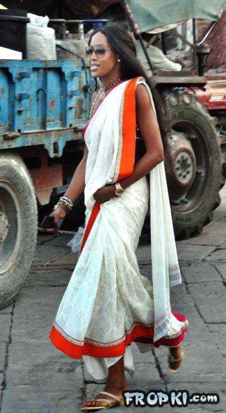 East meets West - Videsis in Sarees