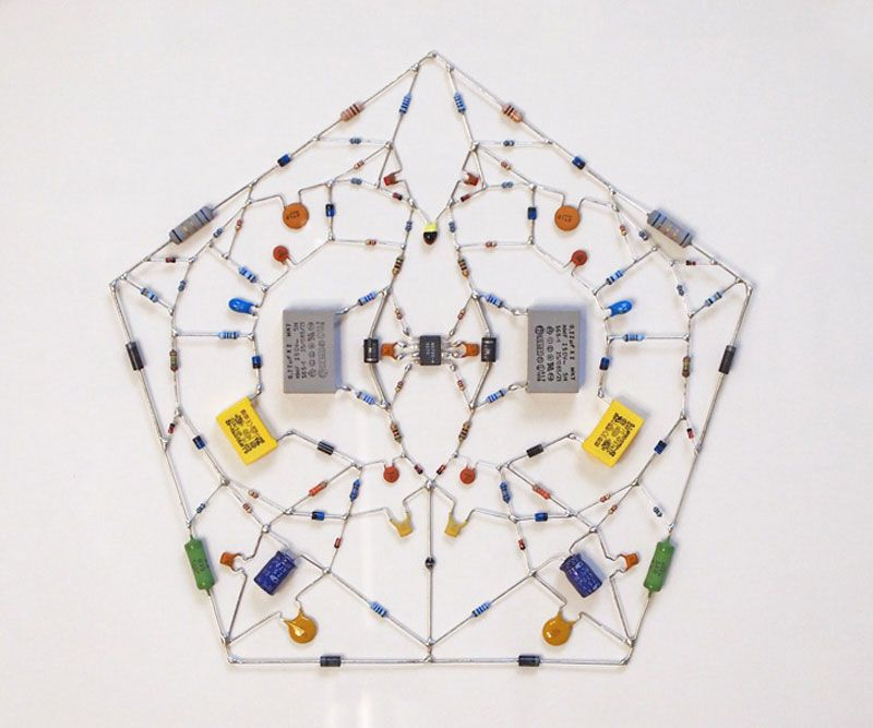 Technological Mandalas Made From Circuitry