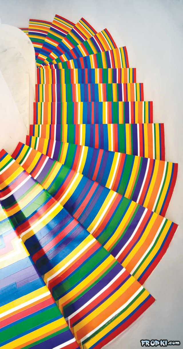 Colorful Strips With Vinyl Tape