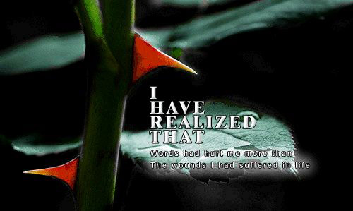 I Have Realized That...