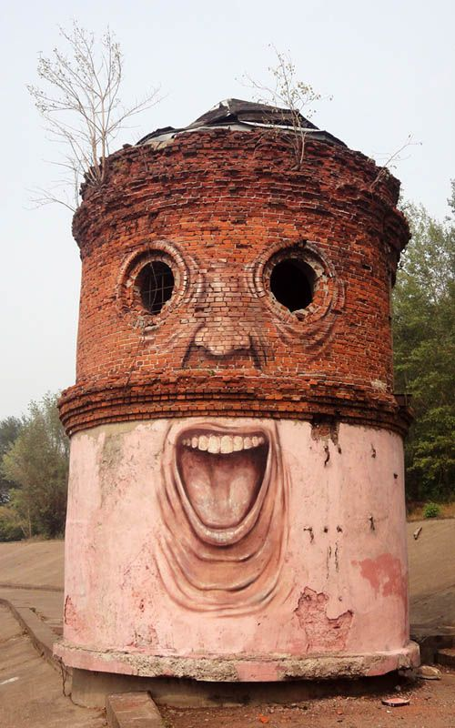 Faces Bring Buildings to Life