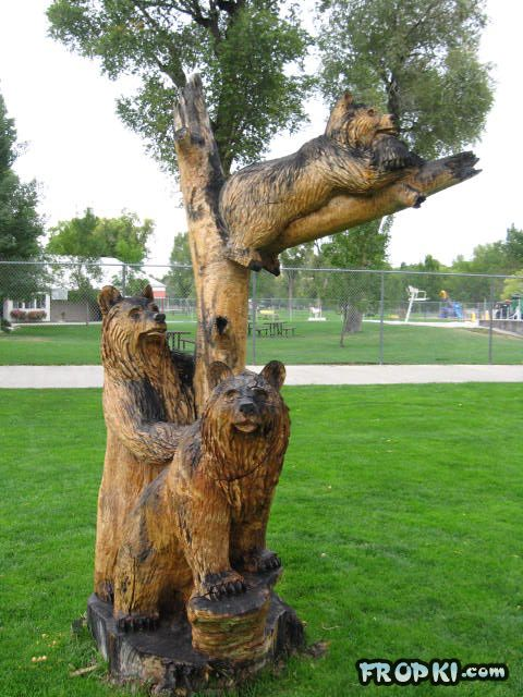 Dried Tree Trunk Sculptures