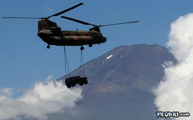 Japanese Military Training at Fujiyama Volcano