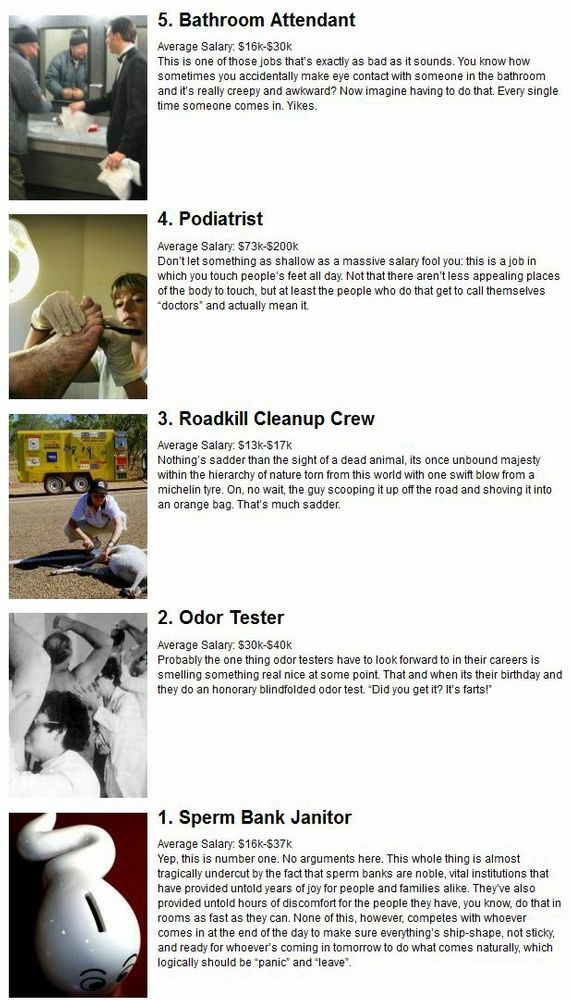 Worst Jobs in the World