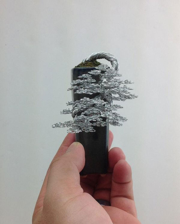 Miniature Bonsai Tree Wire Sculptures