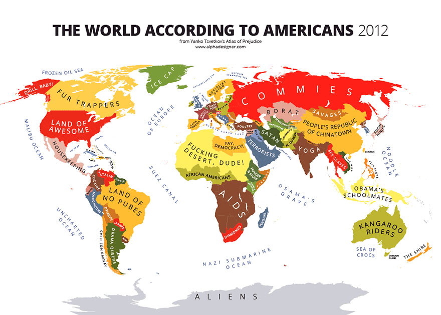 Maps Mocking National Stereotypes around the World