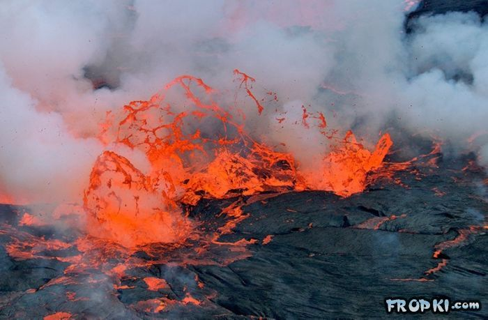 Lava Lake At The Nyiragongo Volcano