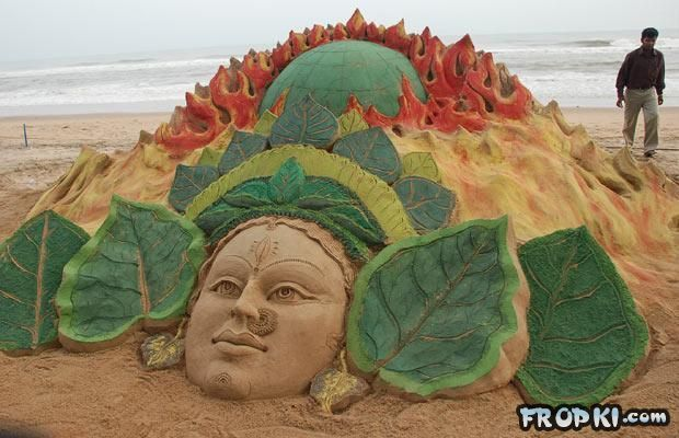 Sand Sculptures in India