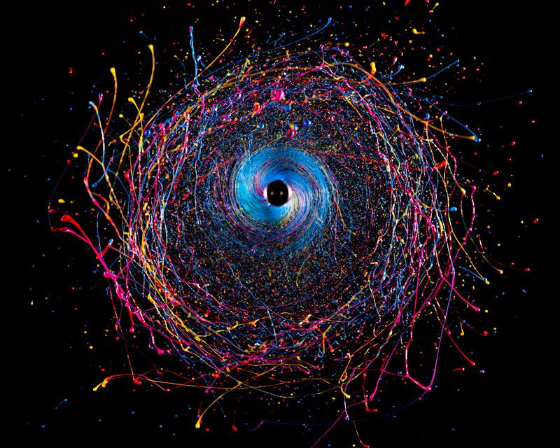 High-Speed Photographs of Swirling Paint