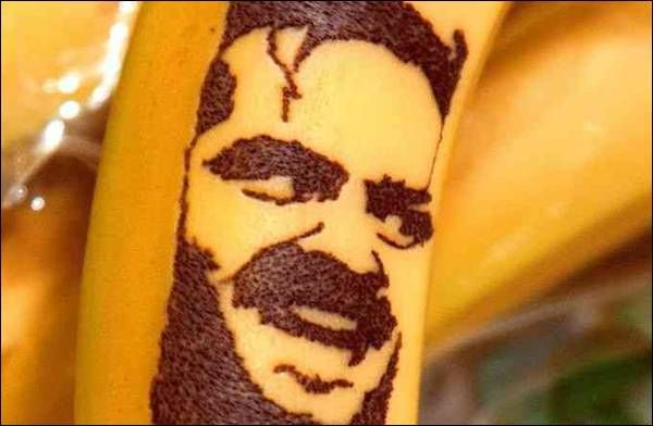 Unique Banana Art made by Piercing All Pin