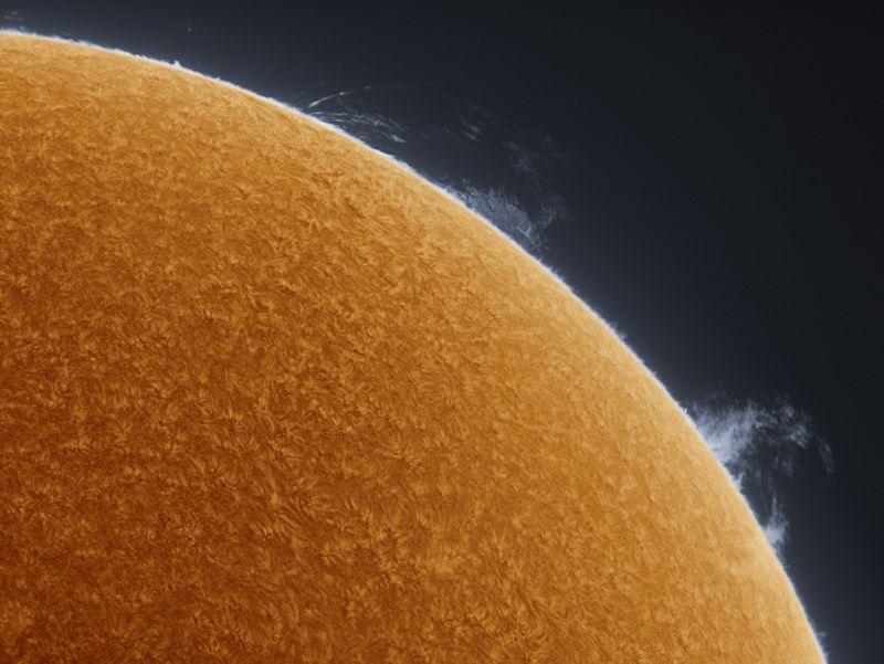 Detailed Photos of Sun by a Backyard Astronomer