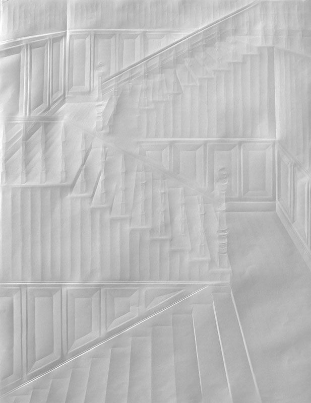 Artworks Made from a Creased Sheet of Paper