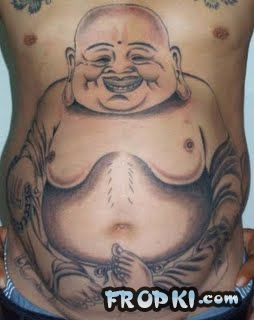 Belly Button Tattoos and Piercings