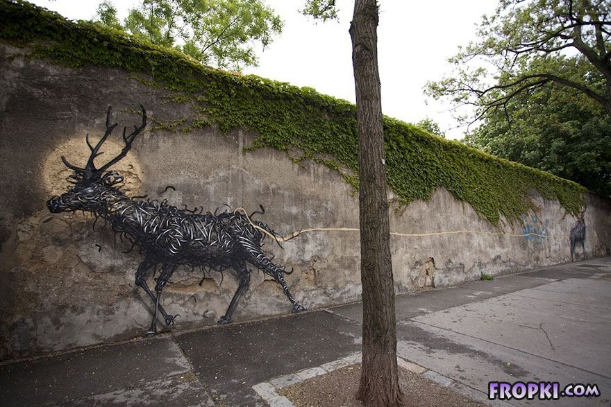 Street Art by Traveling Chinese Artist