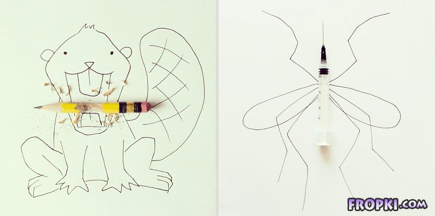 Everyday Objects Turned to Imaginative Illustrations