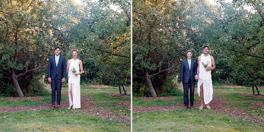 Couples Switch Outfits In Gender-Bending Photo Series
