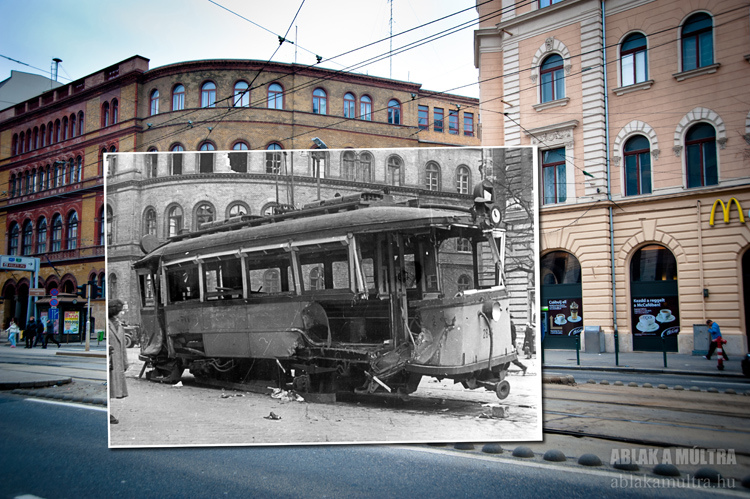 Old Photos of Budapest Spliced Into Present Day