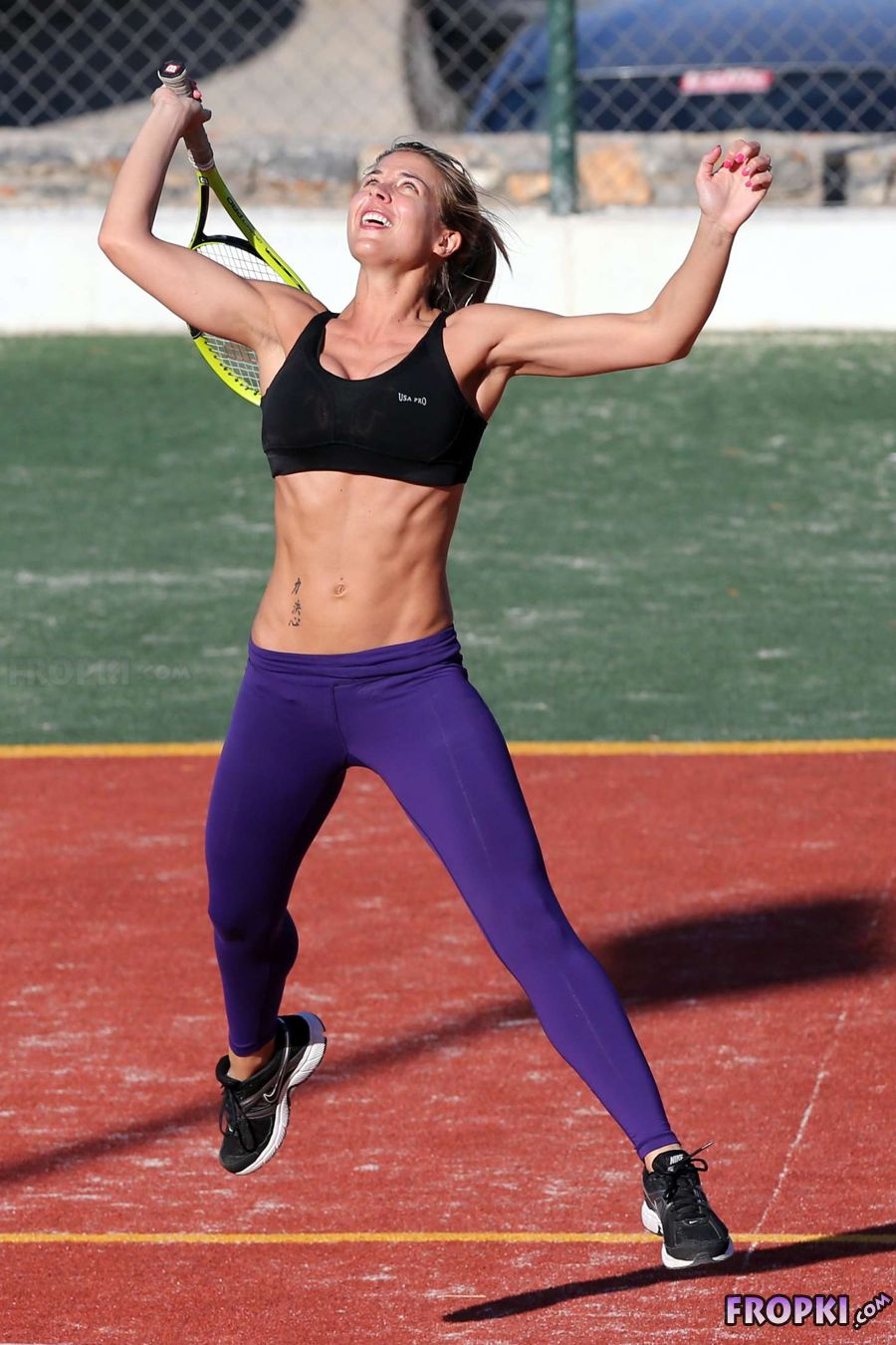 Gemma Atkinson Playing Tennis in Sports Bra | Hollywood Celebs ...