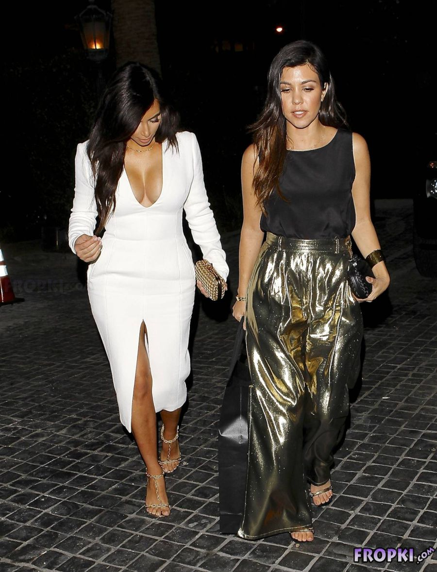 Kim Kardashian - Arriving to Cecconi's in Hollywood