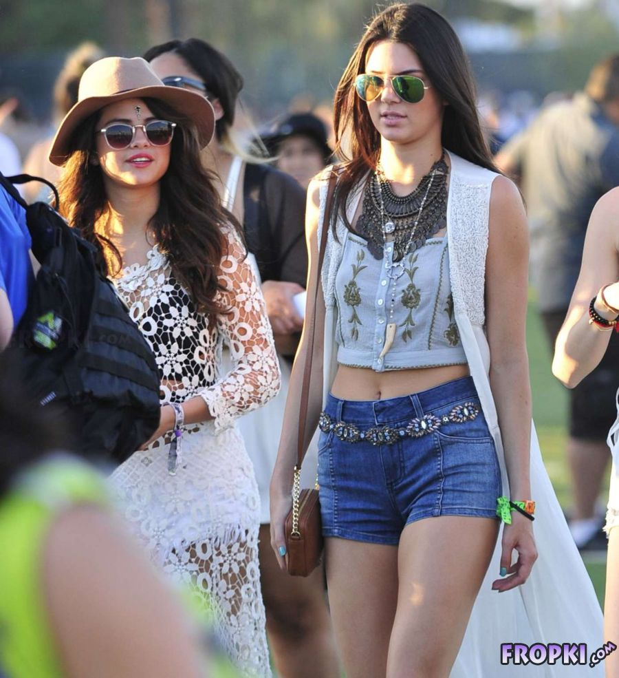 Kylie and Kendall Jenner at 2014 Coachella