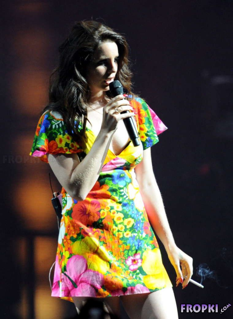 Lana Del Rey performing at Coachella