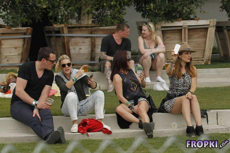 Kelly Brook out and about at Coachella