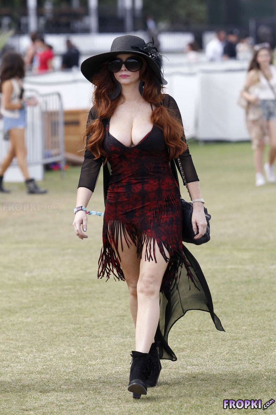 Phoebe Price - out and about at Coachella