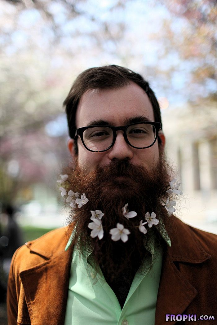 Latest Trend: Men With Flowers In Their Beards